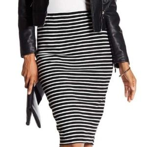 Philosophy Republic Clothing Stripe Midi Skirt XS